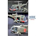 UH-1 Huey C-174th Assault Helicopter Shark 1:18