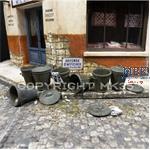 Mülltonnen  1930 - 1960 Jahre  1:35