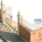 Metal Double Swing Doors & Fence