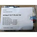 US Navy F-14/ F-18 color Set