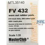 Workable Metal Tracks f. FV432 w/worn rubber pads