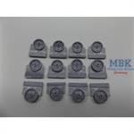 M3 Lee/Grant Intermediate Pattern Road Wheels