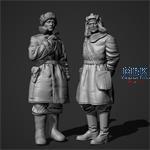Soviet Tank officers in sheepskin coat Set
