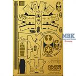 DeAgostini Falcon Cockpit Photoetch Set 1:43