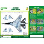 Airbrush CAMO-Mask for1/72 SU Flanker Camouflage 1