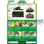 Airbrush CAMO-Mask forM4A3E8 Camouflage Special Ed