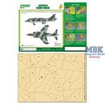 CAMO-MASK 1/48 Hawker Harrier GR.1  Camo Scheme