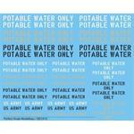 """Decals """"Potable Water"""""""
