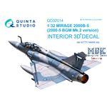 Mirage 2000B-5 3D-Printed & coloured Interior