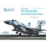 MiG-29SMT 3D-Printed & coloured Interior