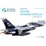 F-16D 3D-Printed & coloured Interior