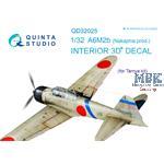 A6M2b (Nakajima) 3D-Printed & coloured Interior