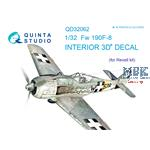 Fw-190F-8  3D-Printed & coloured Interior