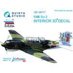 Su-2 3D-Printed & coloured Interior