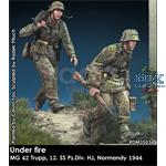 Under fire Normandy MG 42 Team 12. SS Pz Div HJ