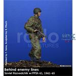 """Soviet Razvedchik PPsh 41 """"Behind the lines"""" 1/35"""