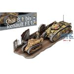 Char. B.1 bis & Renault FT.17  (1:76)