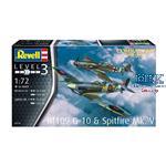 Combat Set  Bf109G-10 & Spitfire Mk.V