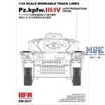 Panzer III / IV late workable tracks 40cm
