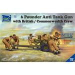 6 Pounder Infantry Anti-tank Gun with Brit. Crew