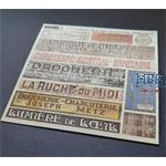 Shop / business signs on real wood - France set 4
