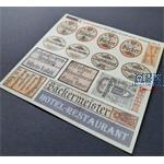 Shop / business signs on Real Wood - Germany set 3