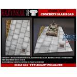 Concrete slab road
