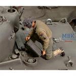 US Crewmember refueling Tank