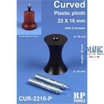 Curved Plastic plinth 22x16 mm    Sockelhalterung