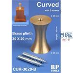 Curved Brass plinth 30x20 mm    Sockelhalterung