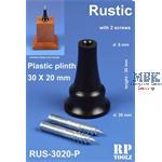 Rustic plinth Plastic 30x20mm      Sockelhalterung