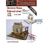 "Diorama-Base: ""Railroad shed"""