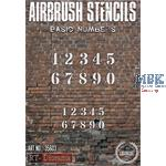 Airbrush Stencil: Basic numbers