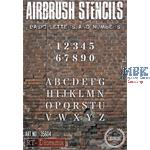 Airbrush Stencil: Basic letters and numbers