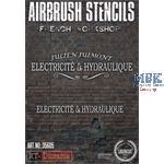 Airbrush Stencil: French workshop