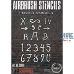 Airbrush Stencil: Painted Symbols