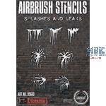 Airbrush Stencil: Stains and Leaks