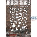 Airbrush Stencil: Spots and stains