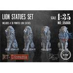 3D Resin Print: Lion Statues Set (4pcs.)