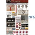 Printed Accessories: German factory signs Set #2