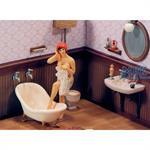 Bathing Girl in Bathroom