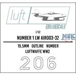 Numbers 1 Luftwaffe  1/32