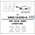 Numbers 1 Luftwaffe  1/48