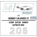 Numbers 1 Luftwaffe  1/72