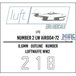 Numbers 2 Luftwaffe  1/72