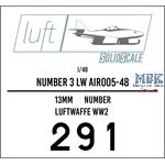 Numbers 3 Luftwaffe  1/48