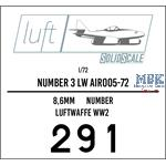 Numbers 3 Luftwaffe  1/72