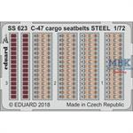 C-47 cargo seatbelts STEEL 1/72
