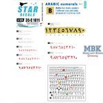 Arabic numerals #1. BLACK 0-9