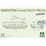 US M-46  PATTON + 1/4 ton UTILITY TRUCK